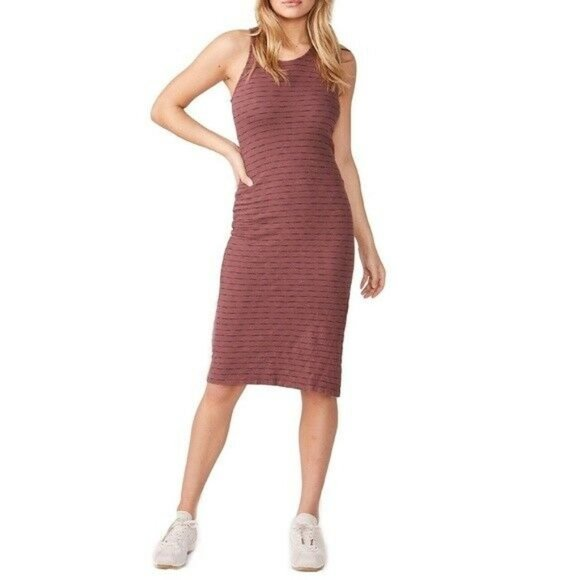 Monrow Purple Stripe Tank Dress M EUC